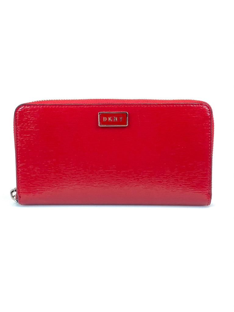DKNY GiGi Zip Around Wallet Red