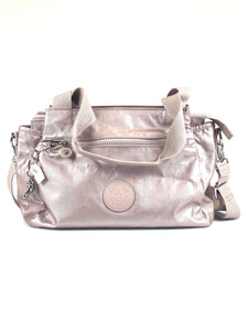 Kipling Elysia Satchel - Metallic Rose