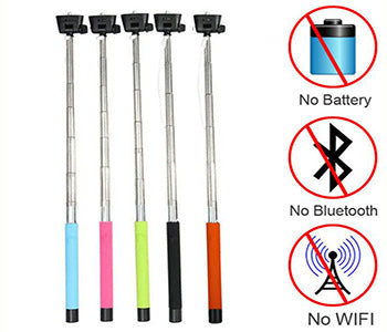 wired selfie stick selfie stick gear. Black Bedroom Furniture Sets. Home Design Ideas
