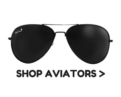 Aviator Frame Shaped Sunglasses | Cali Trend