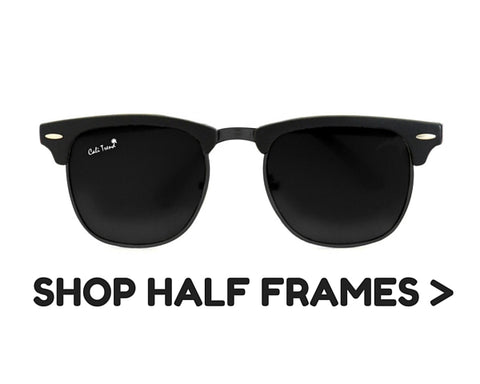 Half Frame Shaped Sunglasses | Cali Trend