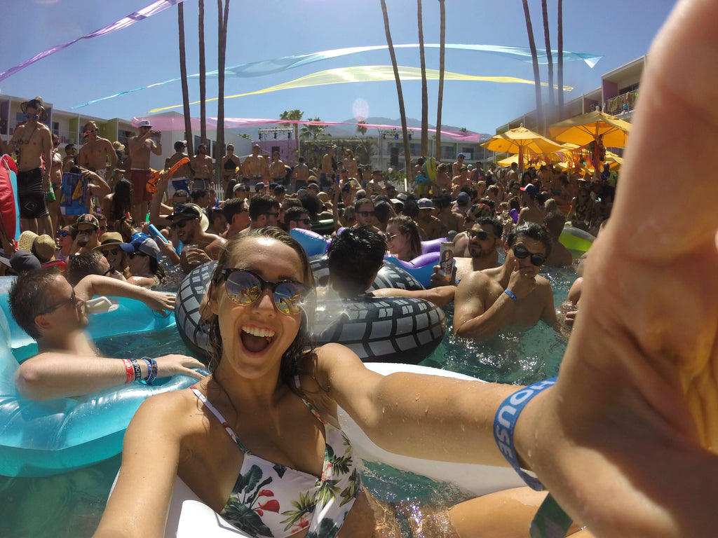Selfie On Floaty At Splash House 2016 Pool Party Music Festival In Saguaro Palm Springs