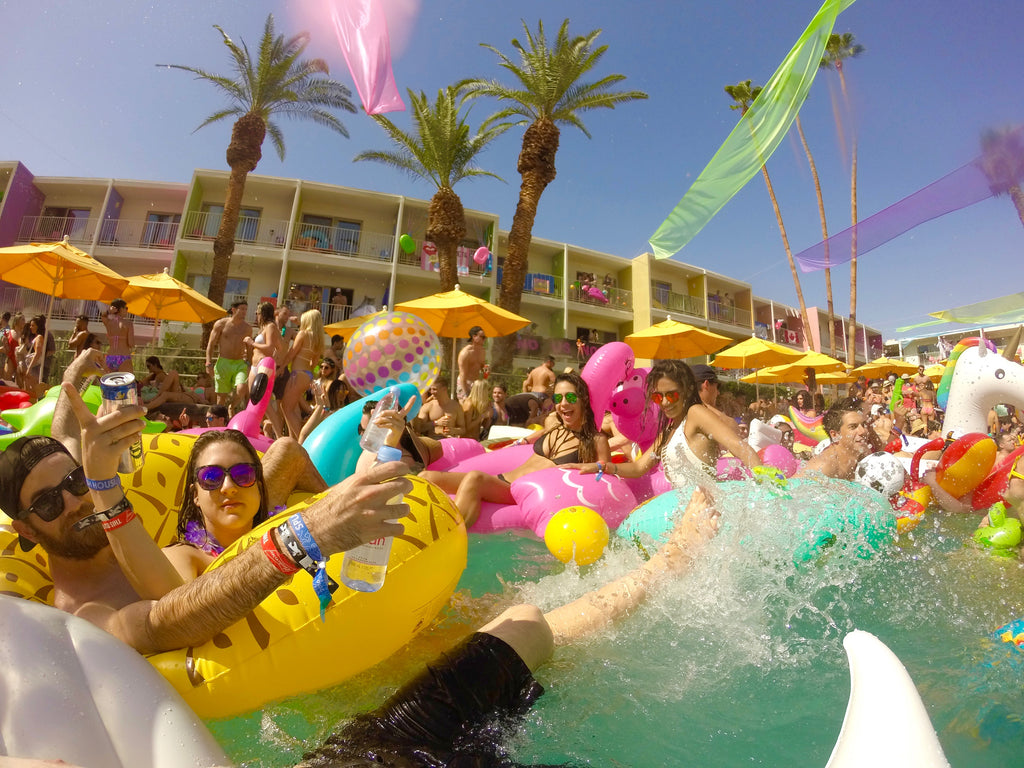 Inside Pool Party Action at Splash House 2016 Music Festival In Saguaro