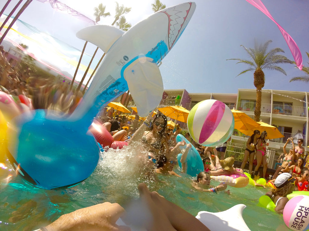 Shark Flipping Mid Air at Splash House June 2016 Music Festival in Saguara Palm Springs