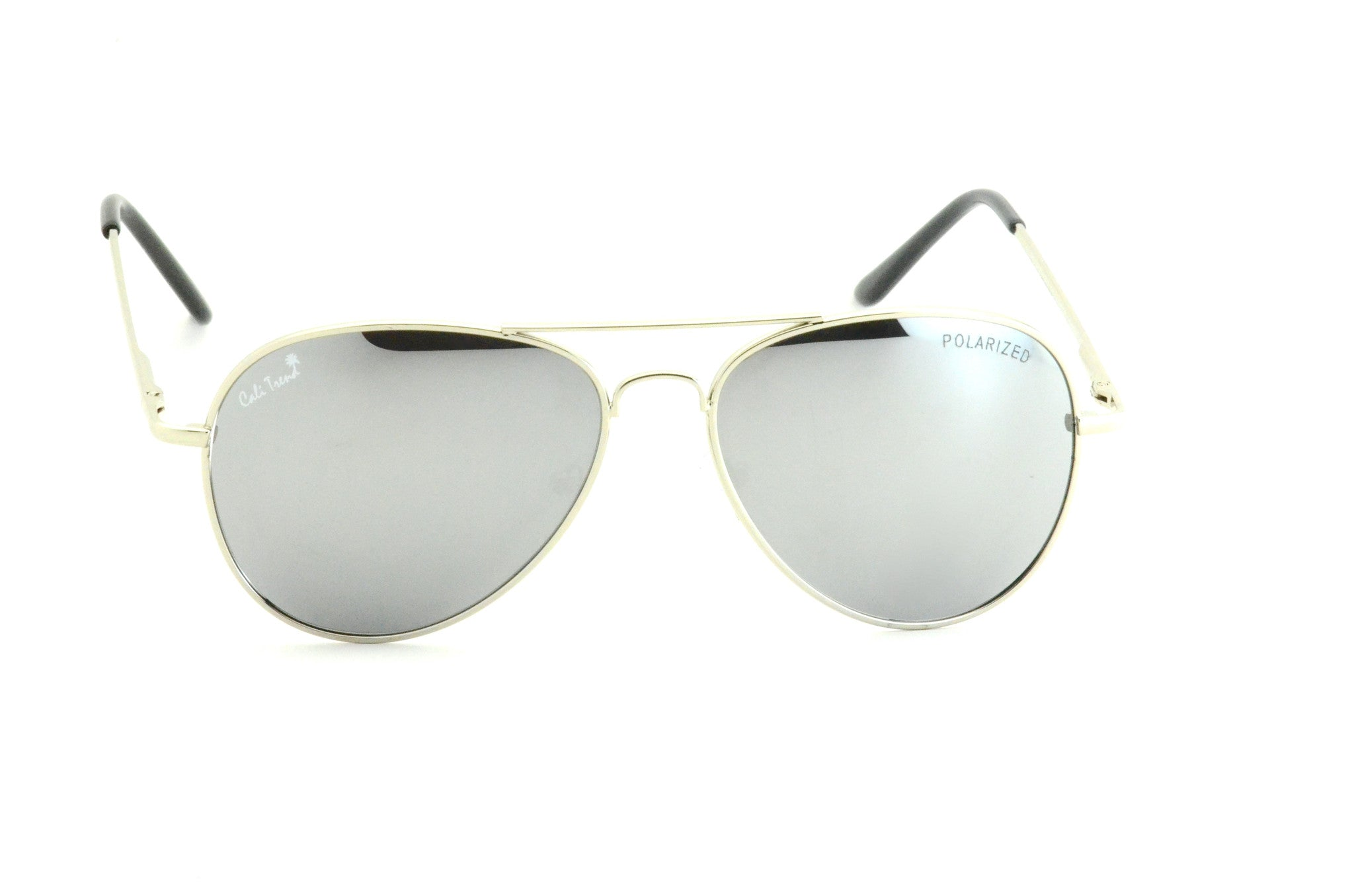 0c720e3991861 Polarized Silver Mirrored Reflective Aviator Sunglasses Large Metal Frame  Spring Hinges
