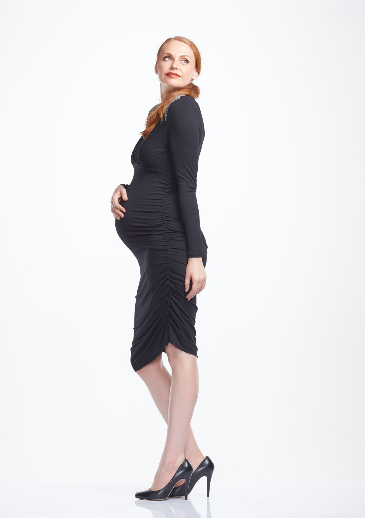 Krystal long sleeve maternity dress two hatch soon krystal long sleeve maternity dress from side tops dresses twohatch ombrellifo Choice Image