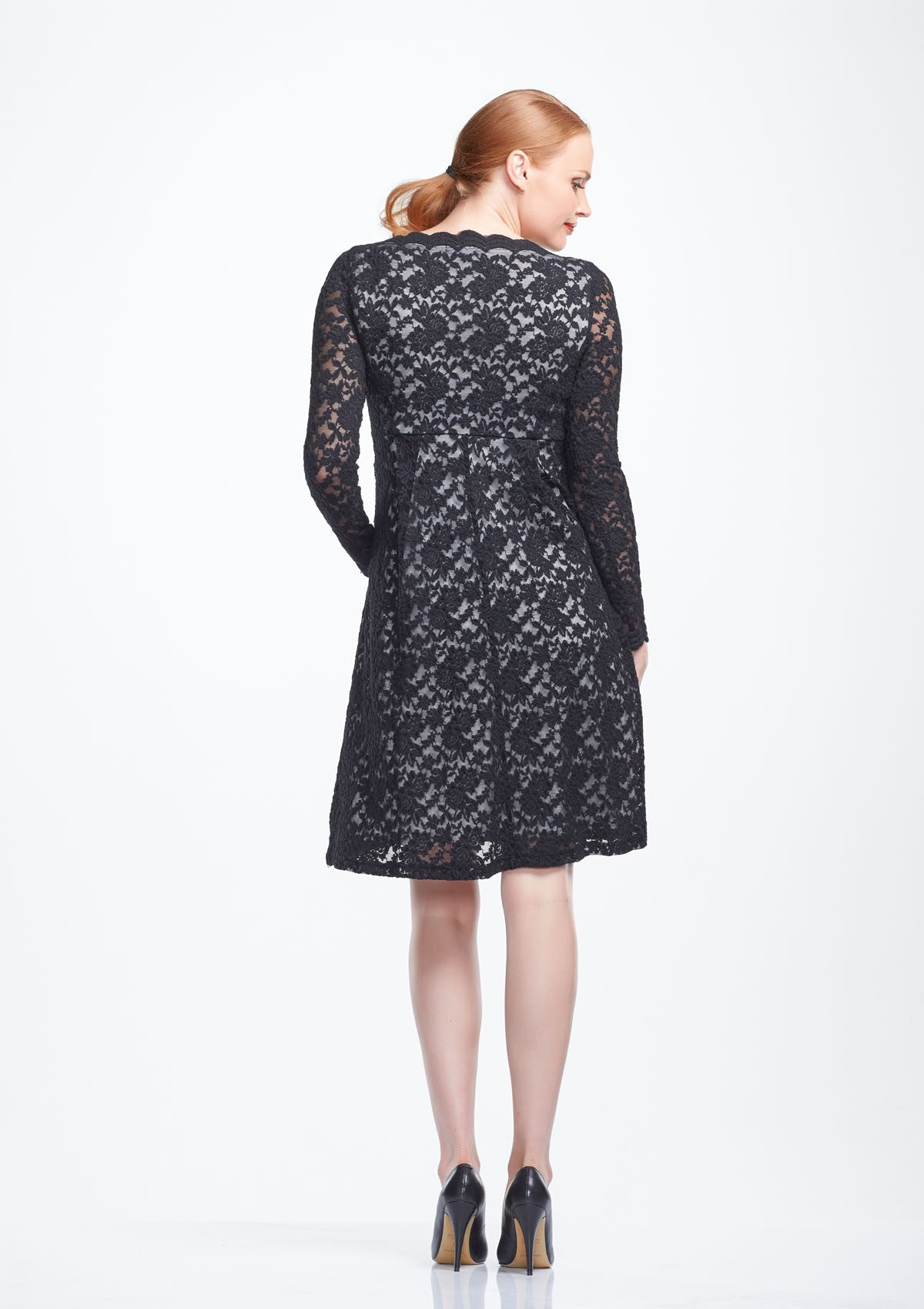 Vera long sleeve lace maternity dress two hatch soon vera long sleeve lace maternity dress from back tops dresses twohatch ombrellifo Gallery