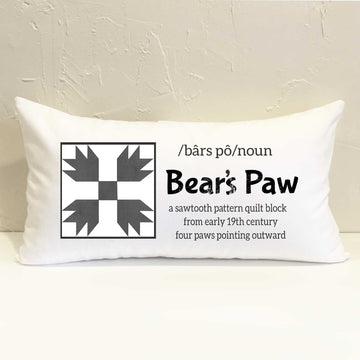Bear's Paw Quilt Pillow