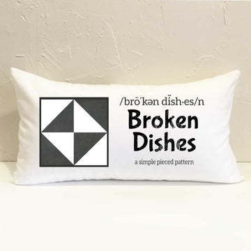 Broken Dishes Quilt Pillow