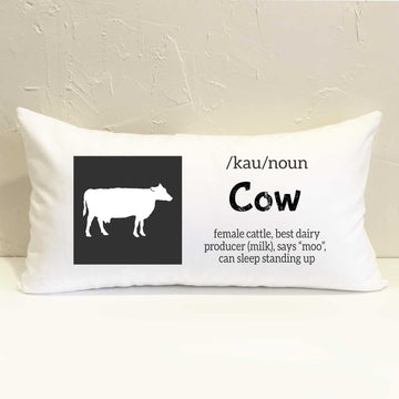 Farm Cow Pillow