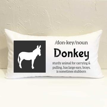 Farm Donkey Pillow