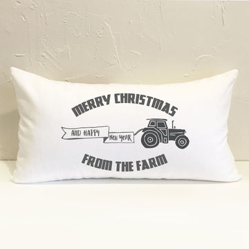 Farm Merry Christmas Pillow