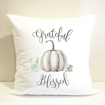 Grateful Pumpkin Pillow