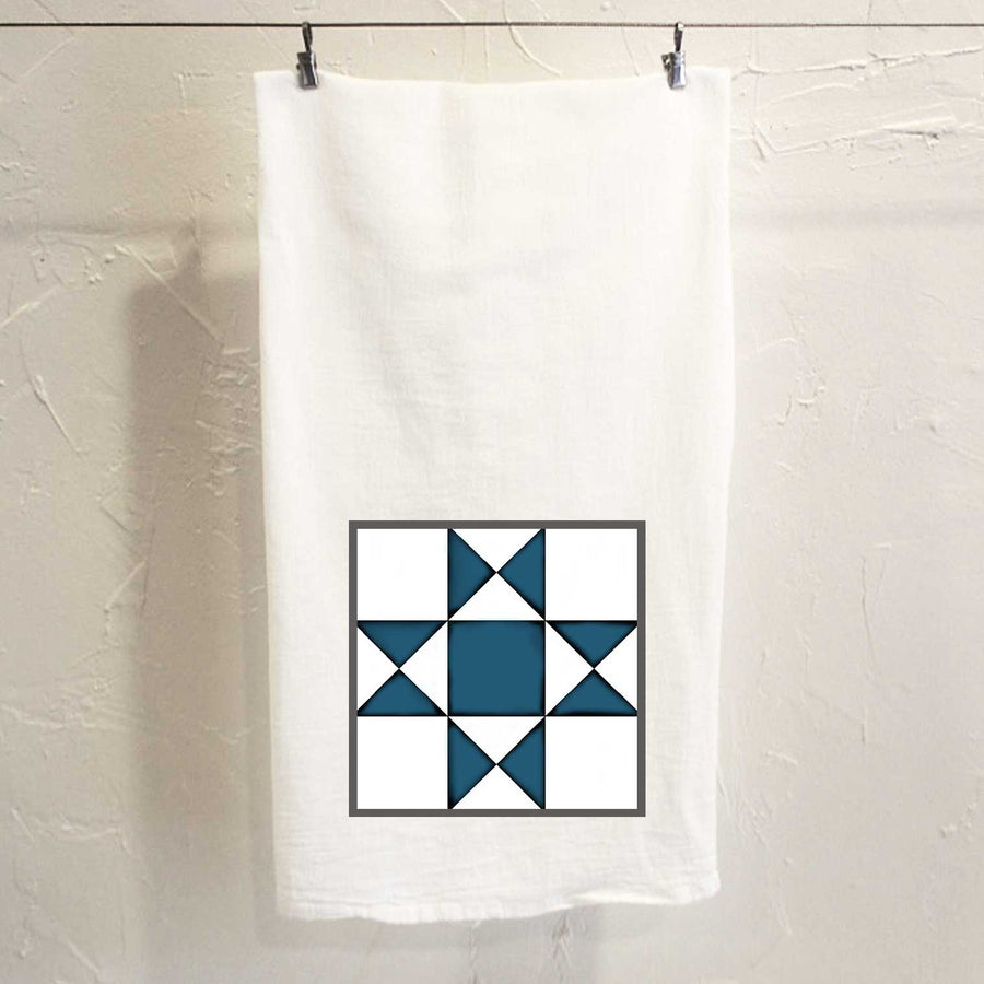 Ohio Star Quilt Tea Towel
