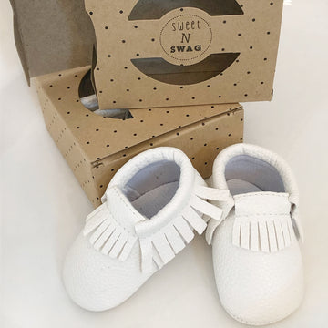 White Baby Moccasins