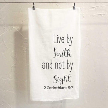 Live by Faith Tea Towel