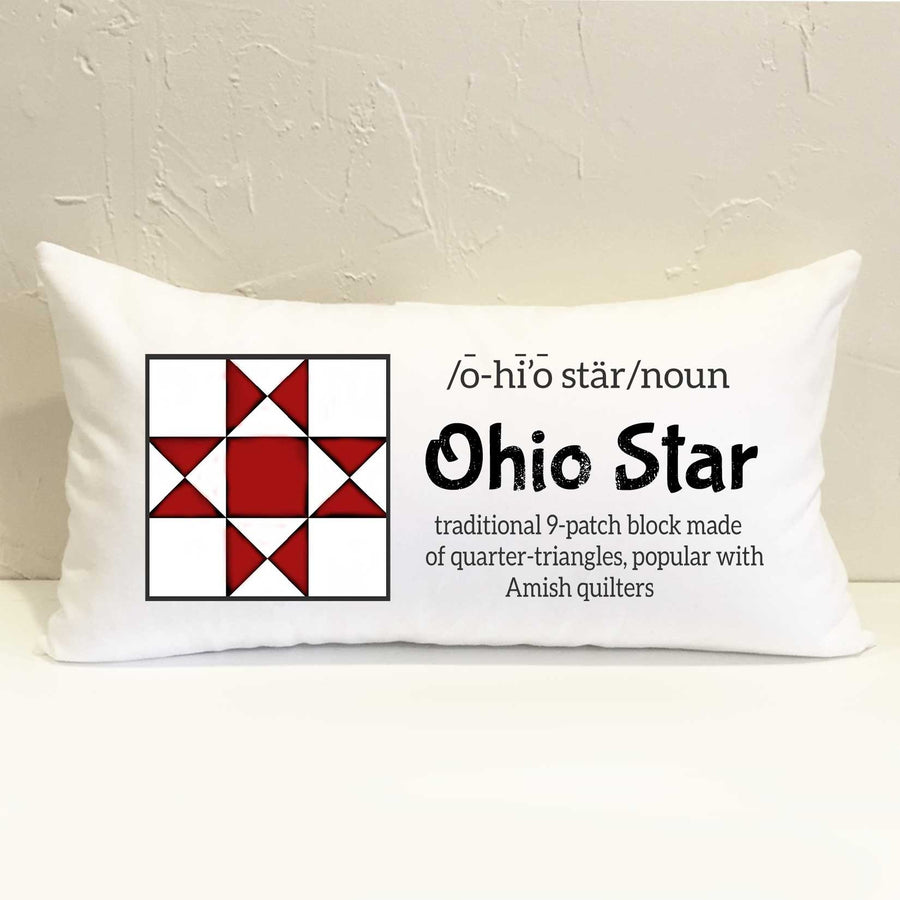 Ohio Star Quilt Pillow
