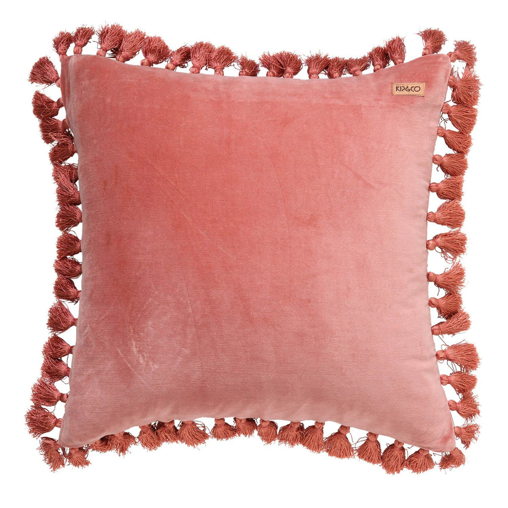 Clay Velvet Tassel Cushion