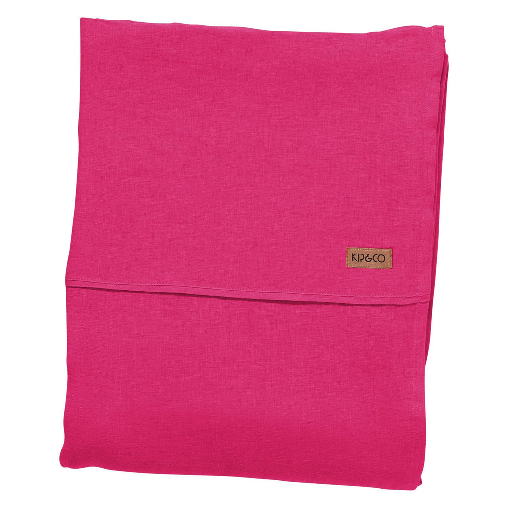 Fuchsia Linen Fitted & Flat Sheets