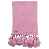 Mulberry Pie Tassel Throw