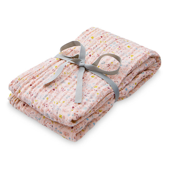 Organic Printed Light Swaddle - Fleur