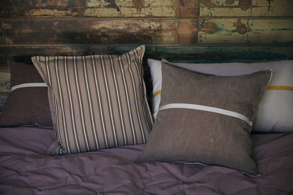 Safari Stripe Cushion  -  Donkey Stripe
