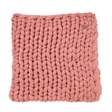 Chunkie Rose Pink Knit Throw