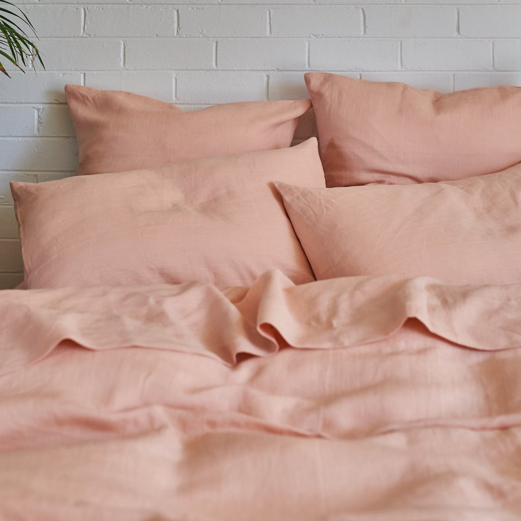 Linen Euro Pillowcase Set - Dusk