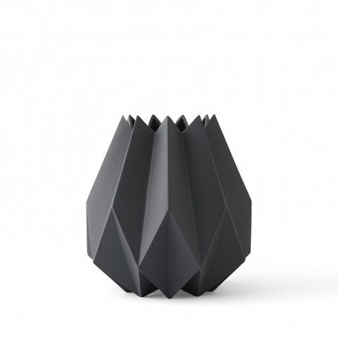 Folded Vase Tall - Carbon