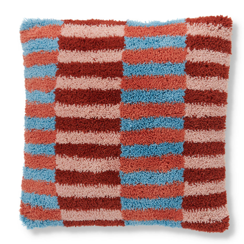 Ladders Wool Shag Cushion