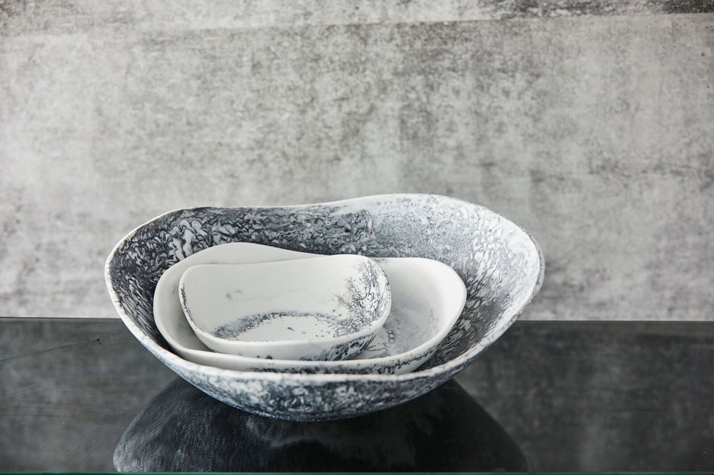 Large Bowl - Grey Marble