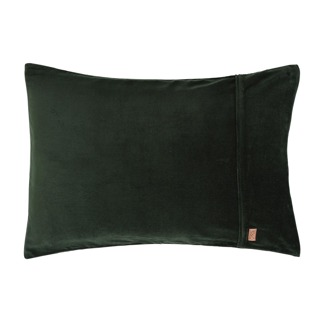 Kombu Green Velvet Pillowcase Set