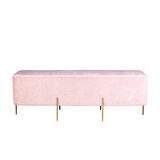 Lucienne Rectangle Ottoman - Blush
