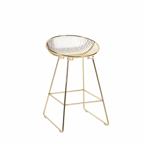White Linear Stool