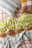 Limoncello Gingham Flat Sheets