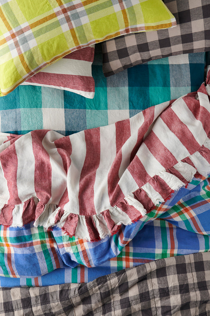 Sangria Stripe Flat Sheets