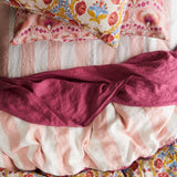 Blush Stripe Flat Sheets