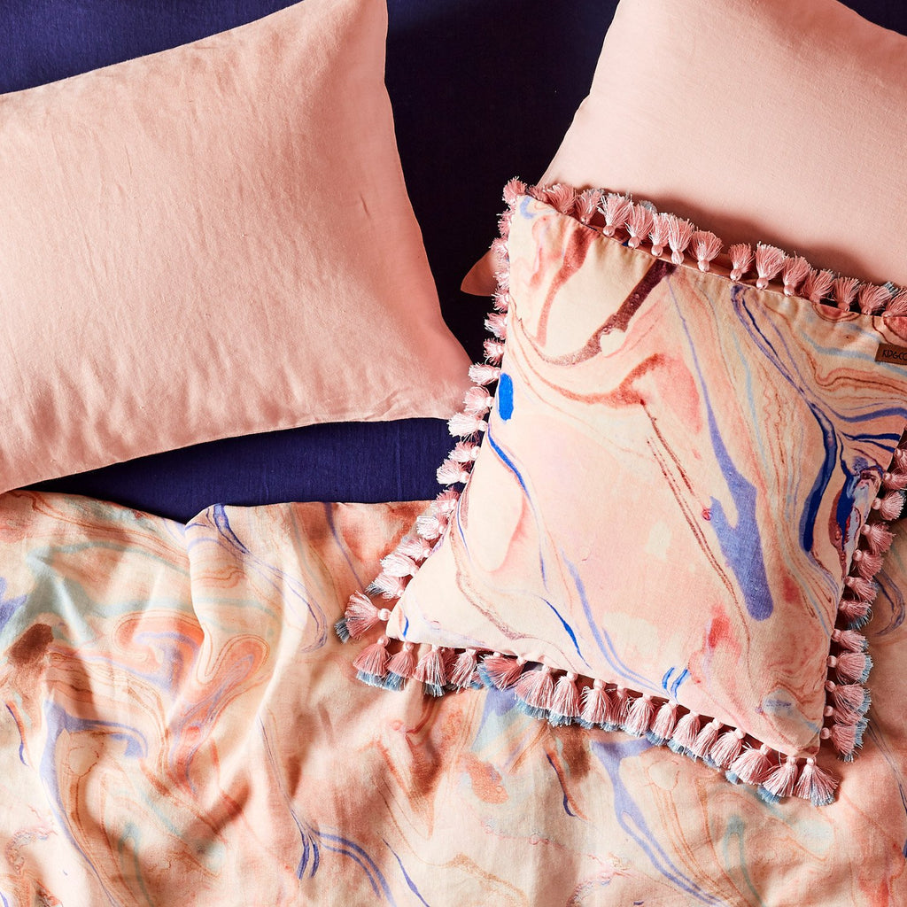 Soft Rose Linen Pillowcase Set
