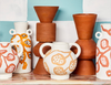 Vase Spotted Begonia Terracotta - Short
