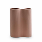 Ribbed Infinity Vase Orche -  Medium