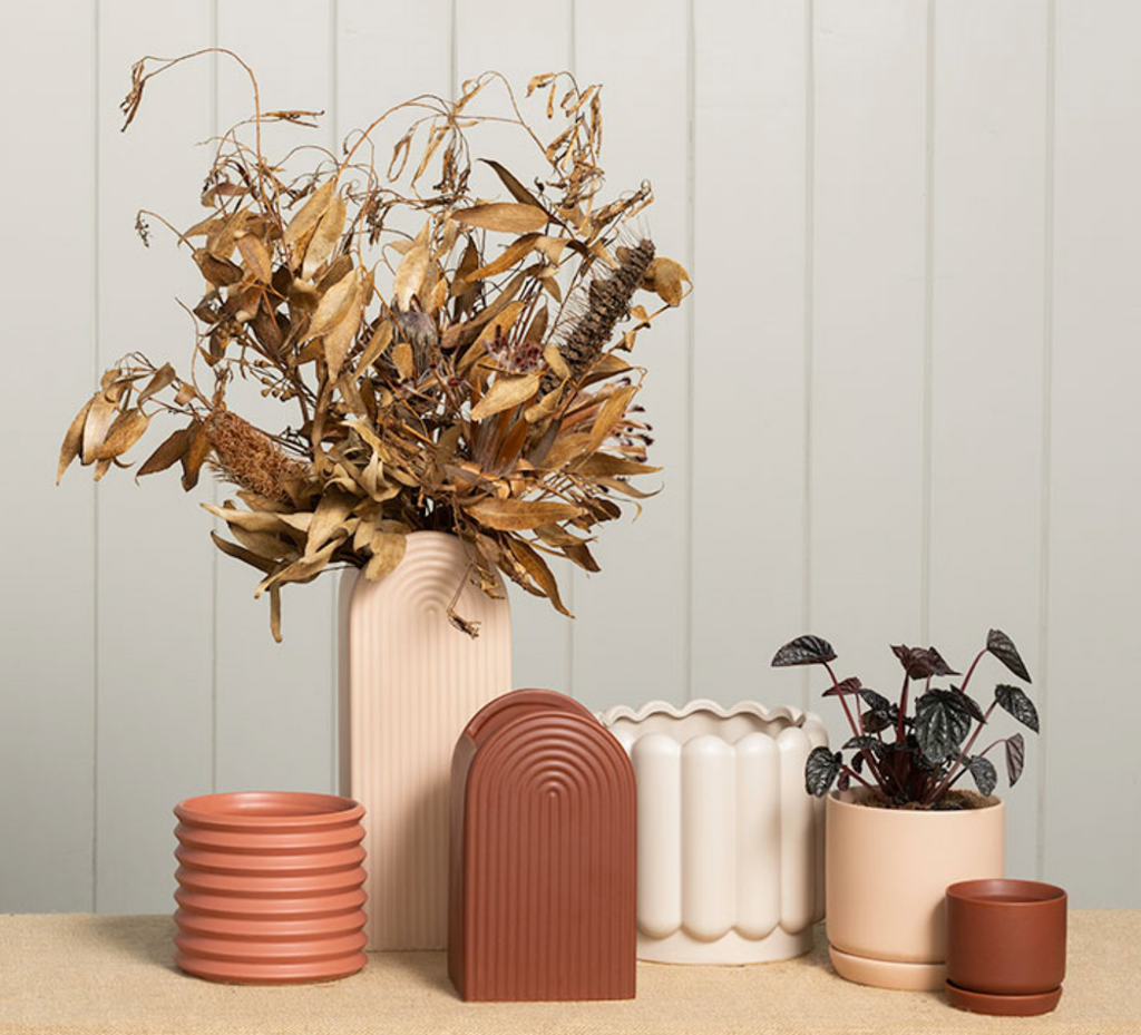 Gatsby Medium Vase - Brick