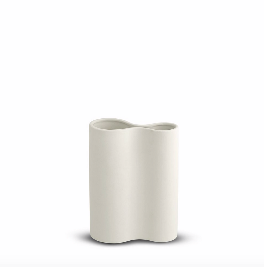 Smooth Infinity Vase Snow -  SMALL