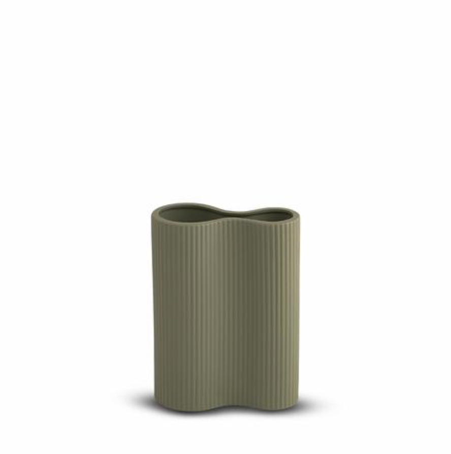 Ribbed Infinity Vase Leaf -  SMALL