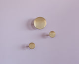 Brass Button Wall Hook- Small