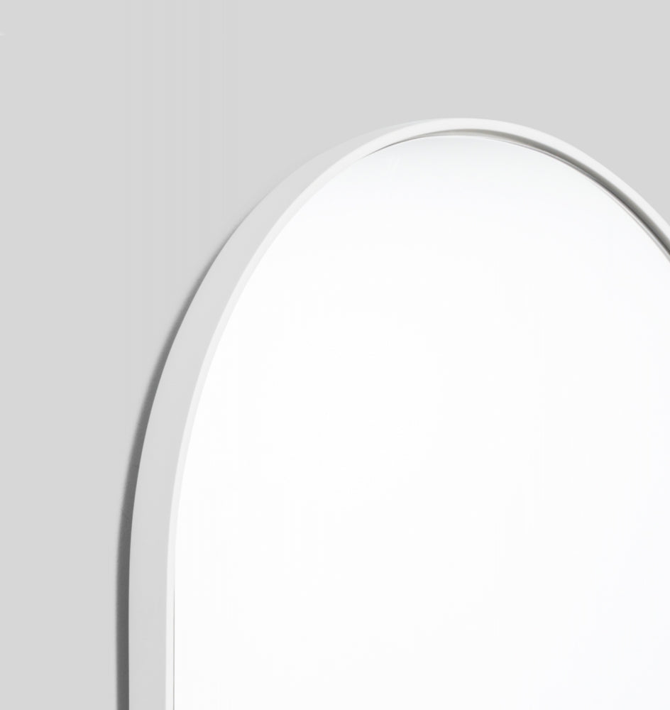 Bjorn Oval large Mirror - Bright White