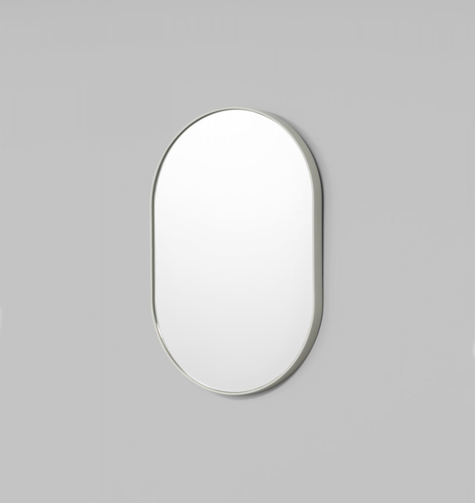 Bjorn Oval Small Mirror - Dove