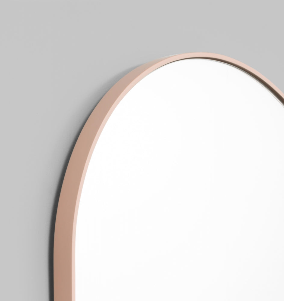 Bjorn Oval Small Mirror - Powder
