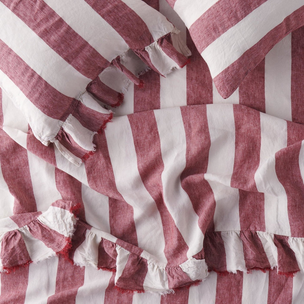 Sangria Stripe Fitted Sheet
