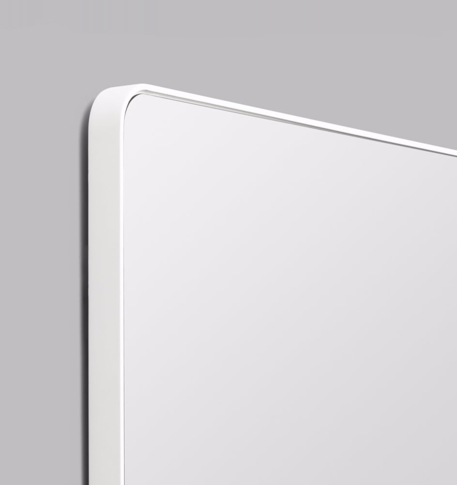 Flynn Curve Rectangle Mirror - Bright White
