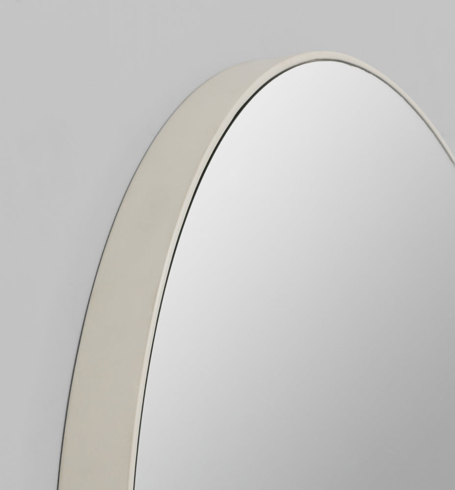 Flynn Round Mirror - Light Grey